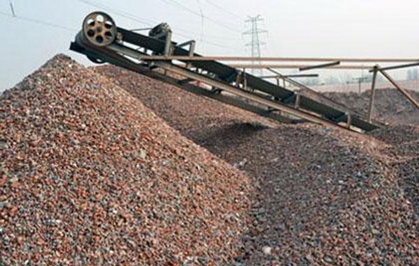 建筑垃圾回收生产线